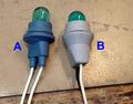 Genuine Sansui long-life 8V 300mA bulb with rubber holder, new